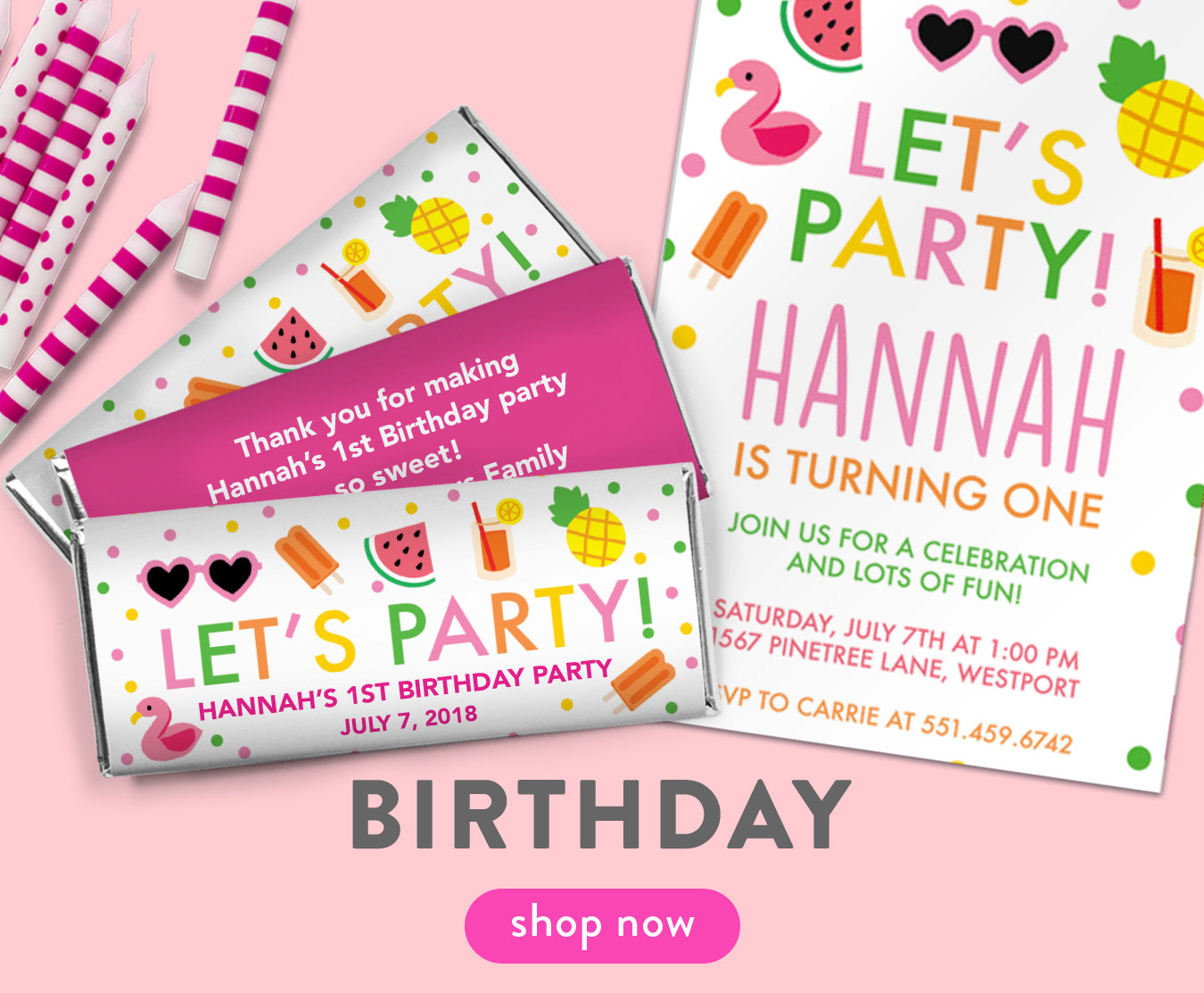 bonnie marcus collection personalized invitations party favors