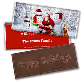 Personalized Christmas Santa's Gifts Embossed Chocolate Bar