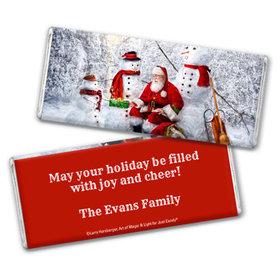 Personalized Christmas Santa's Gifts Chocolate Bar & Wrapper