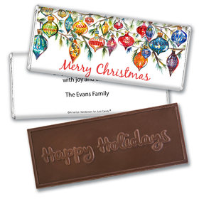 Personalized Christmas Ornaments Embossed Chocolate Bar