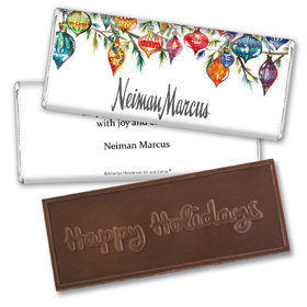 Personalized Christmas Add Your Logo Ornaments Embossed Chocolate Bar & Wrapper