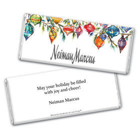 Personalized Christmas Add Your Logo Ornaments Chocolate Bar & Wrapper