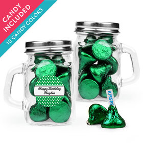 Personalized Birthday Favor Assembled Mini Mason Mug with Hershey's Kisses