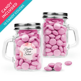 Personalized Sweet 16 Birthday Favor Assembled Mini Mason Mug with Just Candy Milk Chocolate Minis