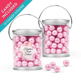 Personalized Sweet 16 Birthday Favor Assembled Paint Can with Sixlets