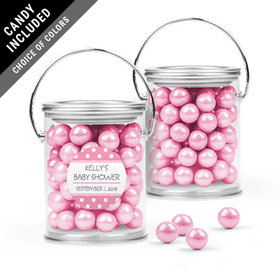 Personalized Baby Shower Favor Assembled Paint Can with Sixlets