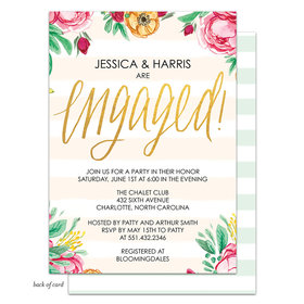 Bonnie Marcus Collection Personalized Engagement Stripes Invitation