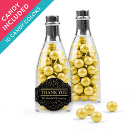 Personalized Thank You Favor Assembled Champagne Bottle with Sixlets