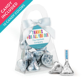 Personalized Thank You Favor Assembled Purse with Hershey's Kisses