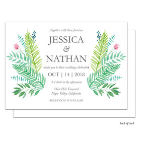 Bonnie Marcus Collection Personalized Gorgeous Greenery Wedding Invitation