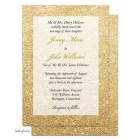 Bonnie Marcus Collection Personalized Glitter Ombre Invitation