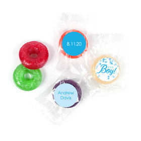 Personalized Birth Announcement It's A Boy Bubbles LifeSavers 5 Flavor Hard Candy