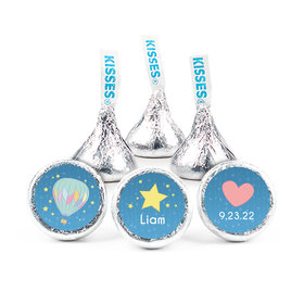 """Personalized Birth Announcement It's A Boy I Have Arrived 3/4"""" Stickers (108 Stickers)"""