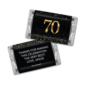 Personalized Birthday Hershey's Miniatures Elegant Birthday Bash 70