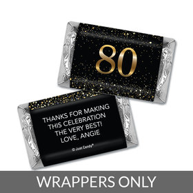 Personalized Birthday Hershey's Miniatures Wrappers Elegant Birthday Bash 80