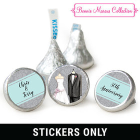 "Bonnie Marcus Collection Anniversary Forever Together Personalized 3/4"" Stickers (108 Stickers)"