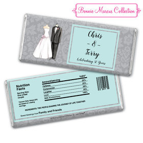 Bonnie Marcus Collection Personalized Chocolate Bar Chocolate and Wrapper Forever Together Anniversary Favors