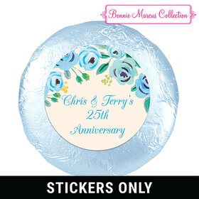 "Bonnie Marcus Collection Anniversary Favors Here's Something Blue 1.25"" Stickers (48 Stickers)"