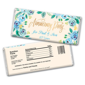 Bonnie Marcus Collection Personalized Chocolate Bar Wrappers Chocolate & Wrapper Here's Something Blue Anniversary Favors