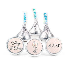 Personalized Bonnie Marcus Anniversary Bubbly Party Pink Hershey's Kisses (50 Pack)