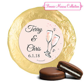 Personalized Anniversary Bubbly Party Pink Chocolate Covered Oreos (24 Pack)