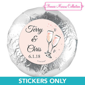 "Personalized Anniversary Bubbly Party Pink 1.25"" Stickers (48 Stickers)"
