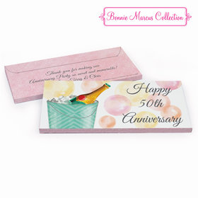 Deluxe Personalized Anniversary Champagne Bucket Chocolate Bar in Gift Box