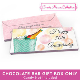 Deluxe Personalized Champagne Bucket Anniversary Candy Bar Cover