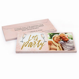 Deluxe Personalized Anniversary Champagne Party Candy Bar Cover