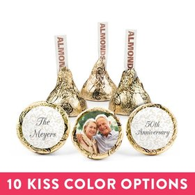 Personalized Bonnie Marcus Anniversary Photo Hershey's Kisses (50 pack)