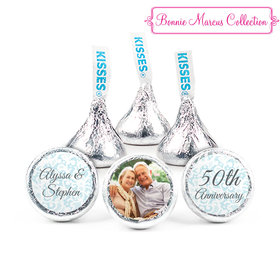 Personalized Bonnie Marcus Anniversary Vintage Linen Hershey's Kisses (50 Pack)