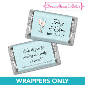 Personalized Bonnie Marcus Anniversary Blue Anniversary Bubbly Mini Wrappers Only