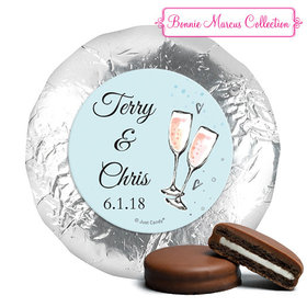 Personalized Anniversary Bubbly Party Blue Chocolate Covered Oreos (24 Pack)