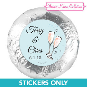 "Personalized Anniversary Bubbly Party Blue 1.25"" Stickers (48 Stickers)"