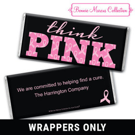 Personalized Bonnie Marcus Breast Cancer Awareness Pink Power Chocolate Bar Wrappers Only