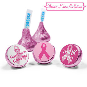 Personalized Bonnie Marcus Breast Cancer Awareness Simply Pink Hershey's Kisses (50 Pack)