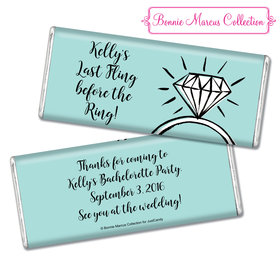 Bonnie Marcus Collection Personalized Chocolate Bar Chocolate and Wrapper Last Fling Bachelorette Party Favors