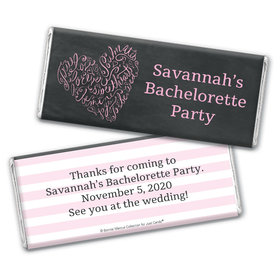 Bonnie Marcus Collection Personalized Chocolate Bar Wrappers Chocolate and Wrapper Sweetheart Swirl Bachelorette Party