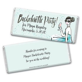 Bonnie Marcus Collection Personalized Chocolate Bar Wrappers Chocolate and Wrapper Blithe Spirit Bachelorette Party Favor