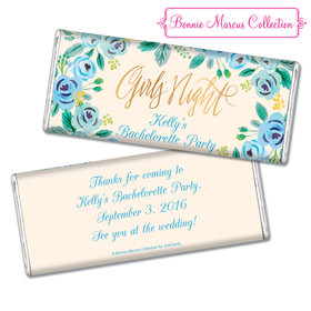 Bonnie Marcus Collection Personalized Chocolate Bar Chocolate & Wrapper Here's Something Blue Bachelorette Favors