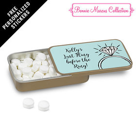 Bonnie Marcus Collection Personalized Mint Tin Last Fling Bachelorette Party Favors (12 Pack)