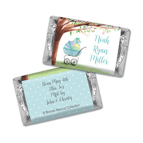 Bonnie Marcus Collection Chocolate Candy Bar and Wrapper Rockabye Baby Boy Birth Announcement
