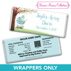 Bonnie Marcus Collection Personalized Chocolate Bar Wrappers Chocolate and Wrapper Rockabye Baby Boy Birth Announcement