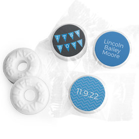 Bonnie Marcus Collection Personalized LIFE SAVERS Mints It's a Boy Banner Boy Birth Announcement