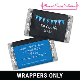 Bonnie Marcus Collection Personalized Hershey's Miniatures Wrappers It's a Boy Banner Boy Birth Announcement