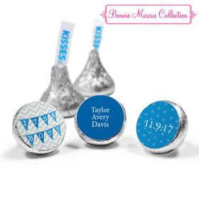 Bonnie Marcus Collection Personalized Hershey's Kisses Candy Chevron Banner Boy Birth Announcement (50 Pack)