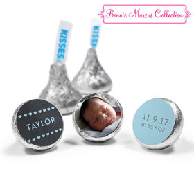 Bonnie Marcus Collection Personalized Photo Hershey's Kisses Candy Heart Boy Birth Announcement (50 Pack)