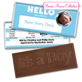 Bonnie Marcus Collection Personalized Photo Embossed It's a Boy Bar Name Tag Boy Birth Announcement