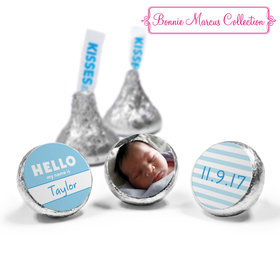 Bonnie Marcus Collection Personalized Photo Hershey's Kisses Candy Name Tag Boy Birth Announcement (50 Pack)