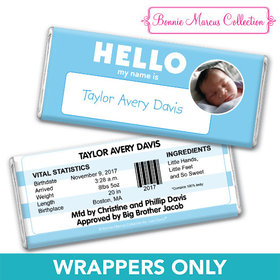 Bonnie Marcus Collection Personalized Wrapper Name Tag Boy Birth Announcement
